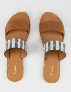 Trendy Sandals, Cute Sandals, Cute Shoes, Slide Sandals, Me Too Shoes, Flat Sandals, Simple Sandals, Sandals Outfit, Shoes Sandals