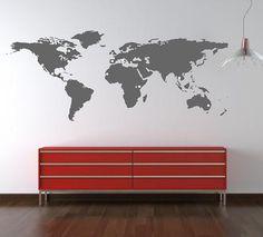 Sticker Map Monde avec stickers rond par @stickerzlab sur Etsy, €45,00