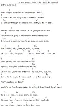 I'm Yours, Jason Mraz, guitar tutorial video Im Yours Guitar Chords, Guitar Chords Beginner Songs, Guitar Chords And Lyrics, Guitar Chords For Songs, Piano Songs, Jason Mraz, Sara Bareilles, Online Guitar Lessons, Humor