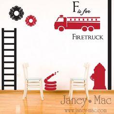 D loves him a firetruck