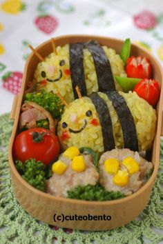 honey bee #bento - some people have too much time on their hands