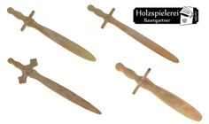 Wooden pretend play swords by Holzspielerei. Made in Germany, these are perfect for keeping dragons at bay!