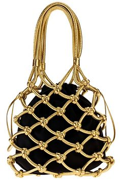 Vintage Gold & Black Bag