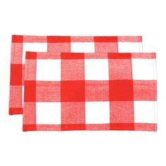 Red and White Plaid Placemat - set of 2 | Nebraska Furniture Mart