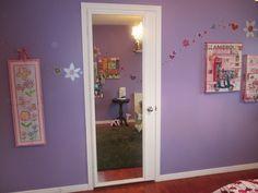 How to make a mirrored closet door from an old door