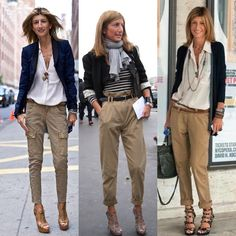 Left, Center, Right? Casual Work Outfits, Classic Outfits, Mode Outfits, Office Outfits, Work Casual, Chic Outfits, Fashion Outfits, Khaki Pants Outfit, Pinterest Fashion