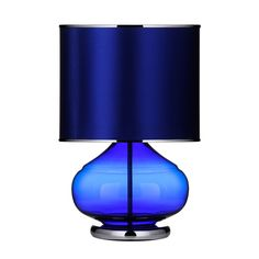 Table Lamp, Sapphire Glass, SECONDS