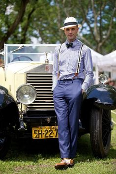 #Men's fashion # fashion for men # mode homme # men's wear Stylish Outfits, 20s Outfits, Summer Outfits, Gentleman Style, Mens Suits, Jazz Age Lawn Party, Retro, Look, Hats For Men