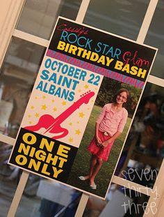 rockstar birthday party ~ party ideas, invitation ideas & inspiration photos ~ seven thirty three - - - a creative blog: You're a ROCK STAR, Baby!