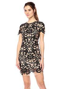 Dress the Population Women's Megan Short Sleeve Sequin Lace Mini Sheath Dress link: Dress Link, Dress The Population, Dresses For Work, Formal Dresses, Sheath Dress, Sequins, Night, Chic, Mini