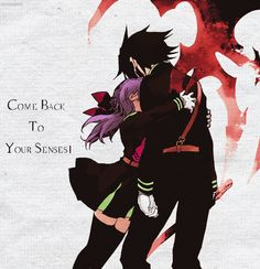 Shinoa Hiragi and Yuichiro Hyakuya - Seraph of the End / Owari no Seraph Vampire History, Vampires, Best Anime Couples, Naruto E Boruto, Image Manga, Seraph Of The End, Demon Girl, Owari No Seraph, Touken Ranbu