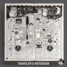 "1,260 Likes, 18 Comments - @enikkii on Instagram: ""たまにはモノクロで描いたりします。 無駄毛が剛毛でつらい!!! #travelers #diary #notebook  #トラベラーズノート"""