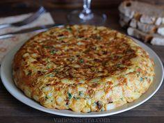 Tortilla de papa con cebolla y perejil | Vanesa Sierra, Recetas paso a paso