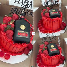 Creative Birthday Cakes, Custom Birthday Cakes, Adult Birthday Cakes, Beautiful Birthday Cakes, Creative Cakes, Alcohol Birthday Cake, Queens Birthday Cake, Alcohol Cake, Torta Animal Print