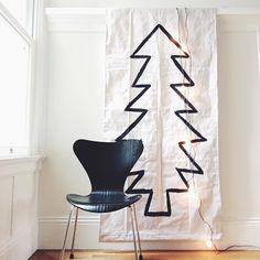 Christmas tree tapestry #diy
