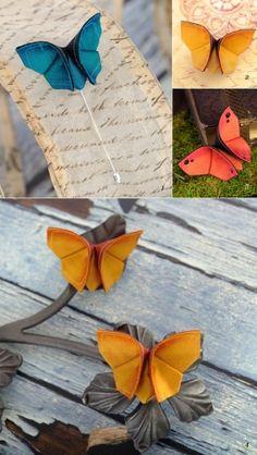 origami butterflies by weasel