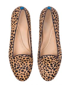 Slippers femme - Leo Savannah cheetah fur // I have these and they are LOVELY <3