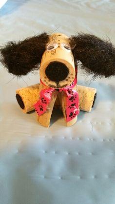 Dog cork ornament