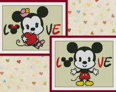 Mickey & Minnie MouseDisney Cross Stitch Pattern by MagicStitching