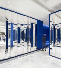 Changing rooms Selfridges Mens Designer Space by Alex Cochrane Architects