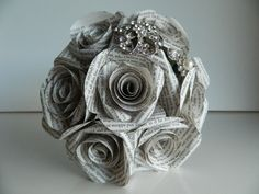 Book Paper Rose Bouquet  **Awesome Idea for Book Lover -->Liz