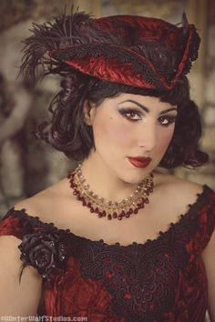 Gothic Victorian Reproduction Steampunk Set with Trims Custom