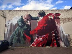 Conor Harrington unveils a new mural in Walthamstow, London