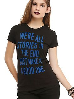 Doctor Who We're All Stories Girls T-Shirt, BLACK