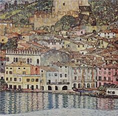 Malcesine on Lake Garda - Gustav Klimt