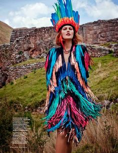 """""""Heart of the Mountains"""": Catherine McNeil in Peru by Mariano Vivanco for Vogue Russia March 2014 