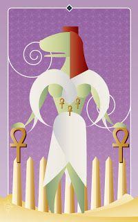 Noo Spinoolean Tarot - Five of Ankhs