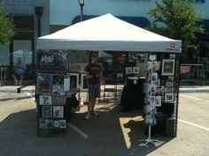 This was my set up at razzle dazzleIn Oak Lawn In Dallas Texas The first week of June, shared the booth  with  Brad Albright  from 10-3 then later with painter Robb Conover from 6-12 I lost money on this one  made most of my sales during the day, once the sun went down the sales stopped