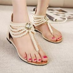 Gorgeous Pearl Beaded Sandals. Sneaker BootsShoes SneakersWomen s ... 25638f084e72