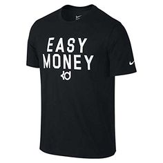 NIKE Nike Mens Kd Easy Money Dri-Fit Shirt Black/White. #nike #cloth #