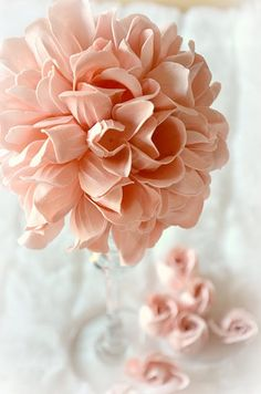 Dollar Tree Craft: Tutorial to make this beautiful flower ball from rose soap petals