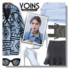 """Yoins"" by jiabao-krohn ❤ liked on Polyvore featuring MANGO, Chloe Gosselin, CÉLINE, yoins, yoinscollection and loveyoins"