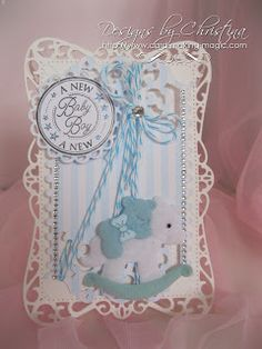 fancy hinged baby card by Christina Griffiths