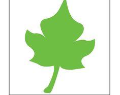 SVG Digital Leaf - Template - Cricut and Silhouette Ready - Adjustable Leaf Template, Templates, Adobe Illustrator Software, Hobby, Cricut Design, Paper Flowers, Silhouette, Crafty, Digital