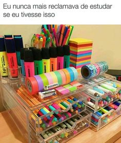 DIY Craftroom Organization – Unexpected & Creative Ways to Organize Your Craft Room Craft Storage Ideas for Small Spaces – Craft Room Organizing Ideas Craft Storage Ideas For Small Spaces, Small Storage, Storage Drawers, Storage Containers, School Suplies, Cute School Supplies, Craft Organization, Stationary Organization, Organizing Ideas For Office