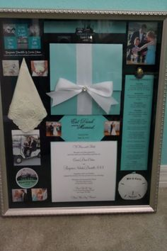 Wedding Shadow Box made with items from your wedding day! Truly a unique, one of a kind keepsake!
