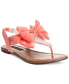 Material Girl Skylar Flat Sandals - Shoes - Macy's