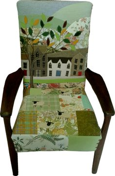 Another lovely chair from Rustique Interiors.....garden/landscape scene. I wouldn't want anyone to sit in it so I could keep looking at it unencumbered!