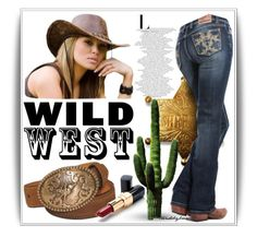 """Wild West Style"" by trendsbybren ❤ liked on Polyvore featuring Nocona, Ultimo, casualoutfit and wildwest"