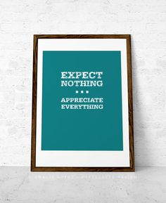 Inspirational print Inspiring quote print Expect by LatteDesign, $15.00