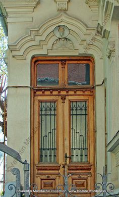 Neo-Romanian Style Doorway From the Decade
