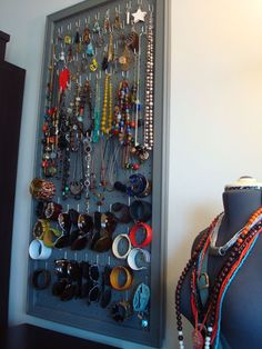 """Before, I always wore the same accessories because it was hard to see what I had when it was in a drawer. Now when I am getting dressed I can see everything I own displayed on the wall and it inspires me to try fun new combinations. The whole thing cost less than thirty bucks and it keeps me extremely organized!"""""""