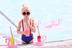 Photo by Amanda Pratt for Earnshaw's August Cover Story Editorial, Pool Fun, Kids Fashion, Women's Fashion, Summer Photos, Kids Swimming, Cool Pools, Halo, Victorian