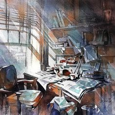 An Interior Life. Watercolor Paintings Indoors and Outdoors. By Thomas Schaller.