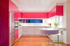 Очень яркая  розовая кухня | bright pink colorful kitchen