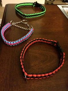 Super cute Paracord Dog collar by JCalCreations on Etsy